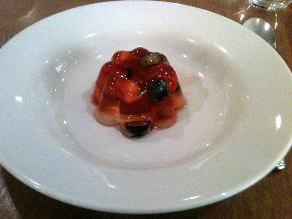 Hix Selfridges - Nyetimber jelly