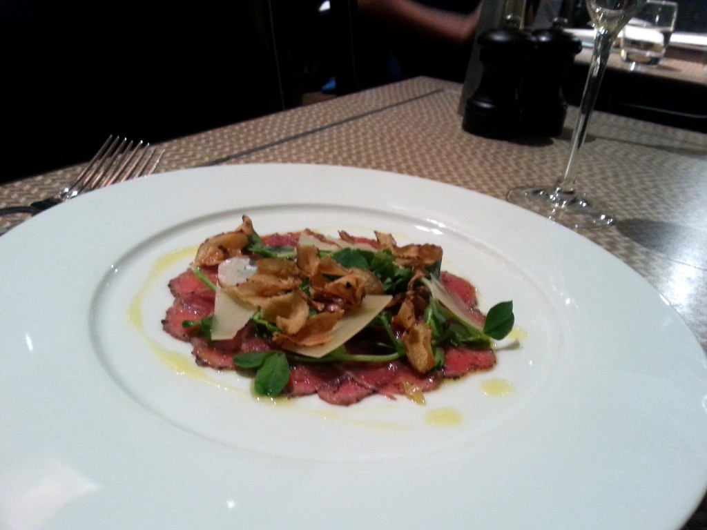 One Canada Square - Venison carpaccio