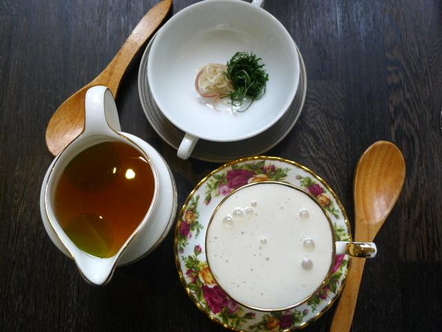 Yashin Ocean – Fish consommé & miso cappuccino