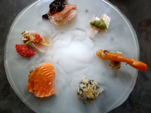 Yashin Ocean – Sashimi with yuzu 'smoke'