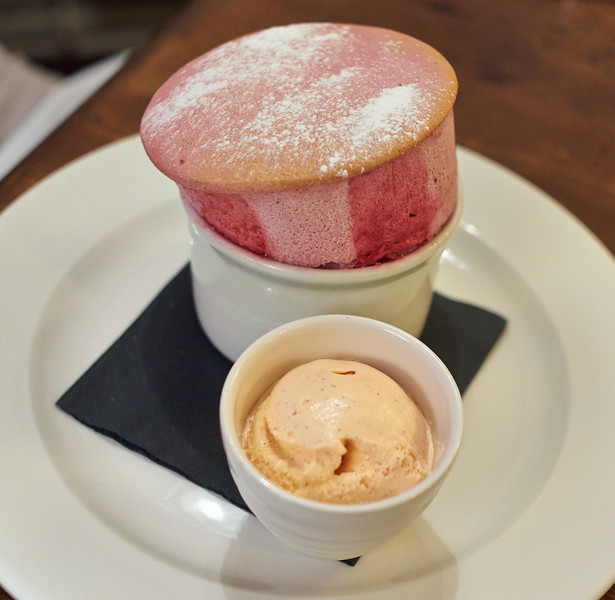 The White Hart - Raspberry soufflé