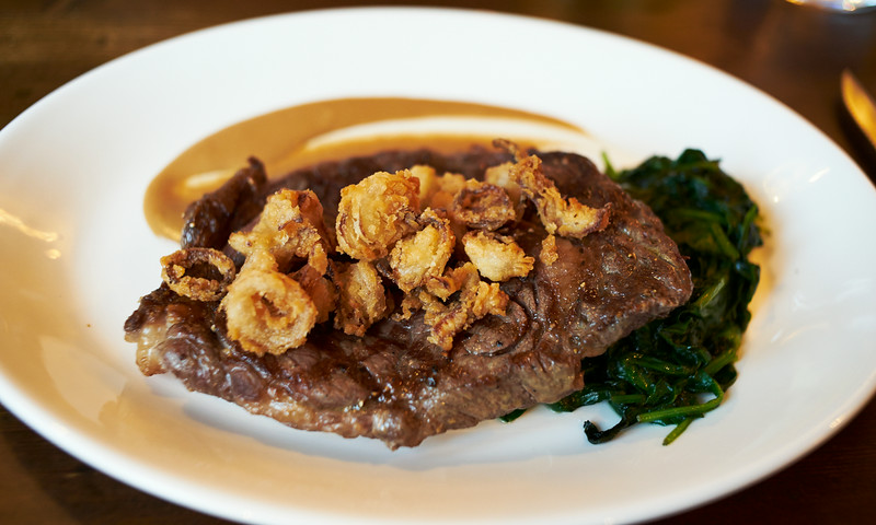 The White Hart - Rib eye steak