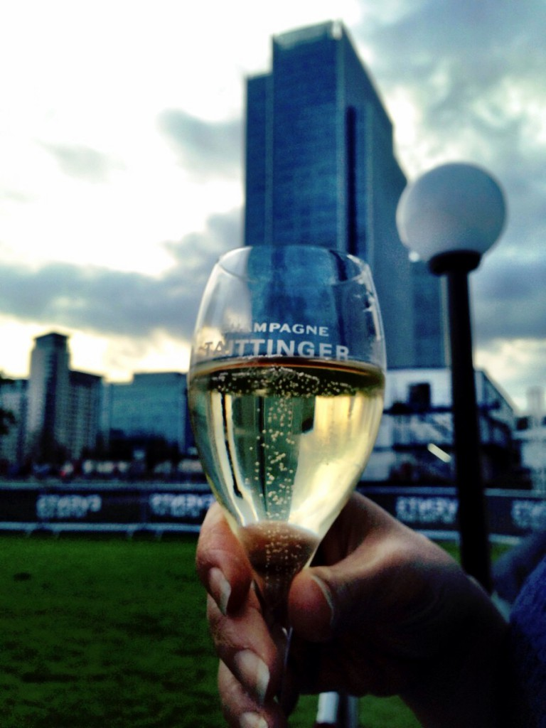London in the Sky - Taittinger champagne