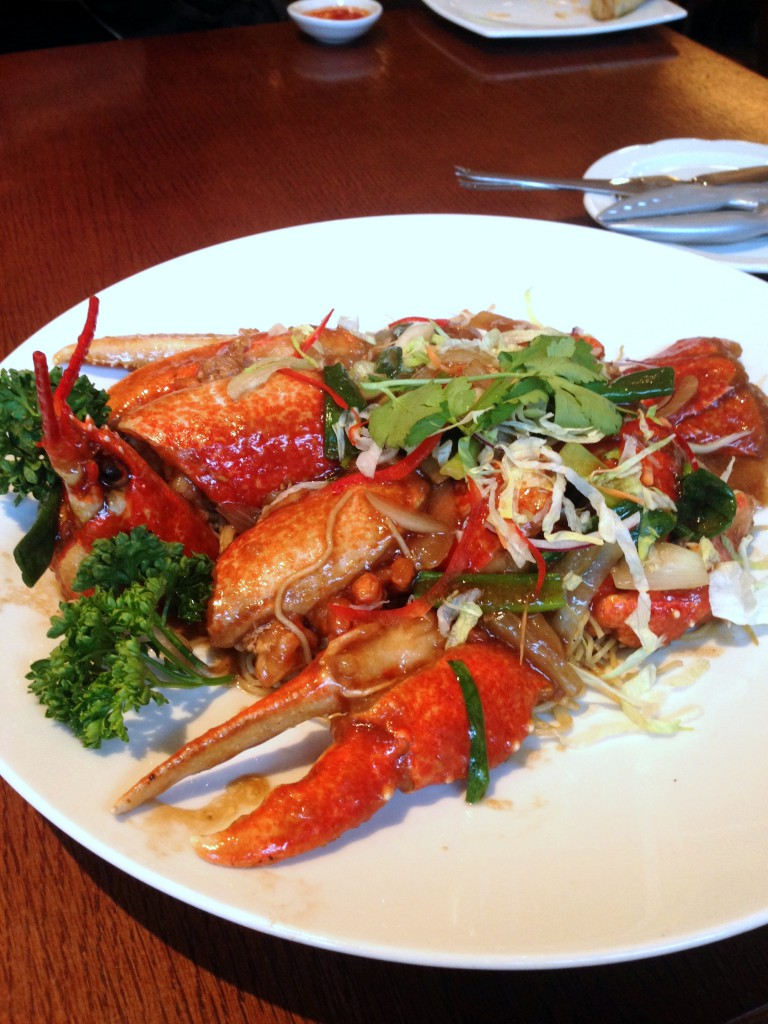 Chinese Cricket Club - Lobster noodles