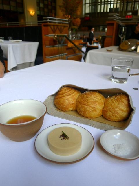 Eleven Madison Park - Breads with venison butter & consommé