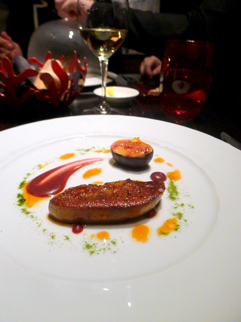 L'Atelier de Joël Robuchon - Foie gras with fig