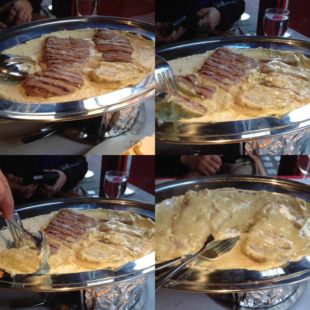 Chez Boubier - Cafe de Paris butter & sirloin steak
