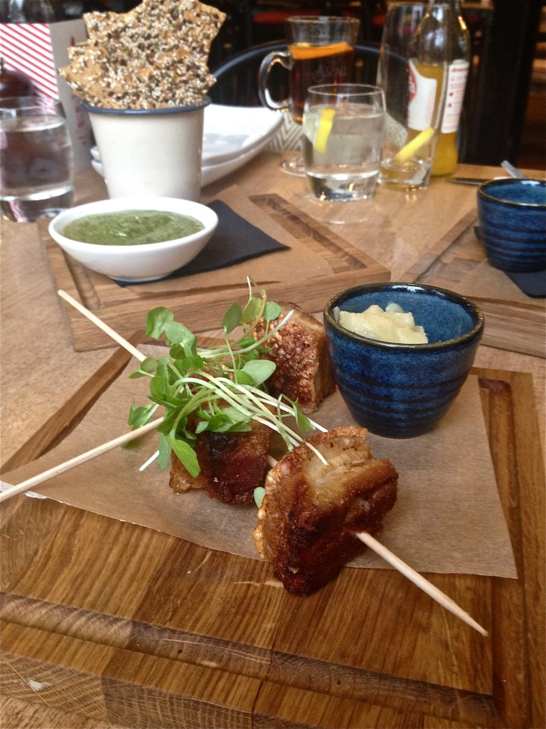 The Porchester - Pork belly lollipops