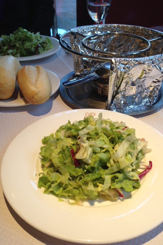 Chez Boubier - green salad served with Chez Boubier dressing