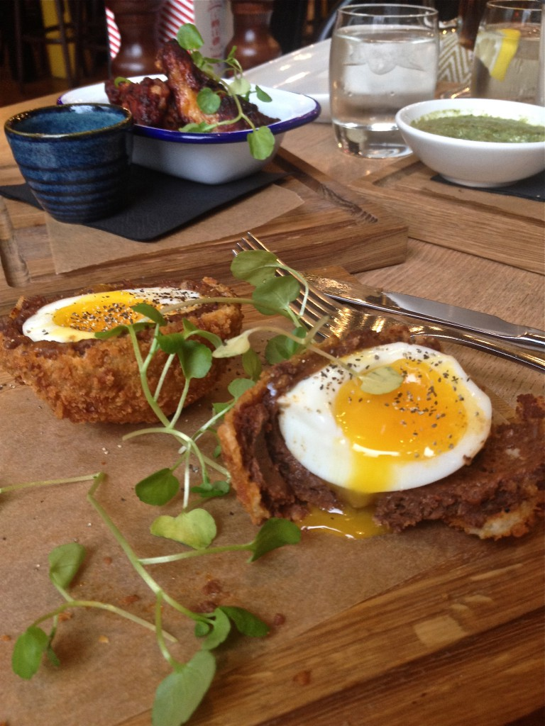 The Porchester - Chorizo and black pudding scotch egg