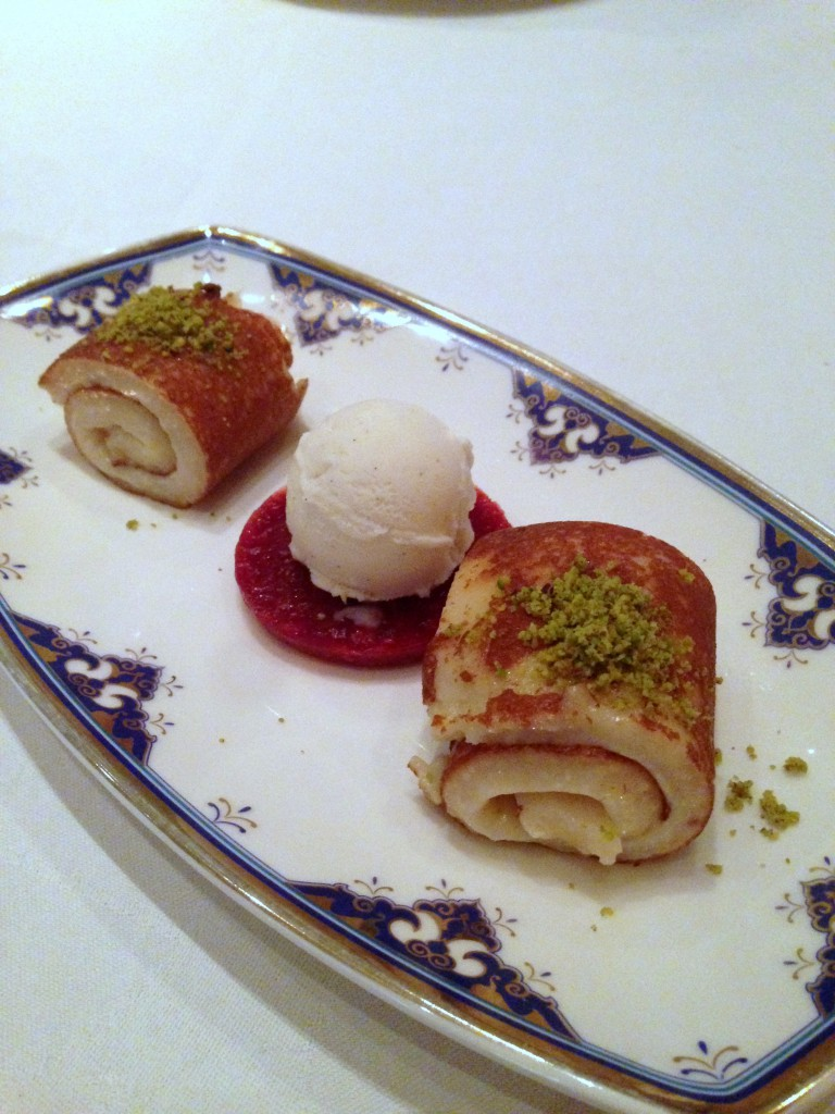 Ciragan Palace Kempinski Istanbul - Milk & chicken pudding