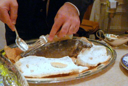 Ciragan Palace Kempinski Istanbul - Salt baked sea bass