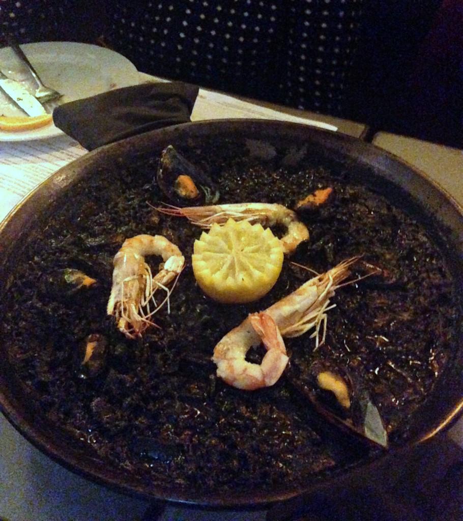 London food blog Boqueria - Arroz negro