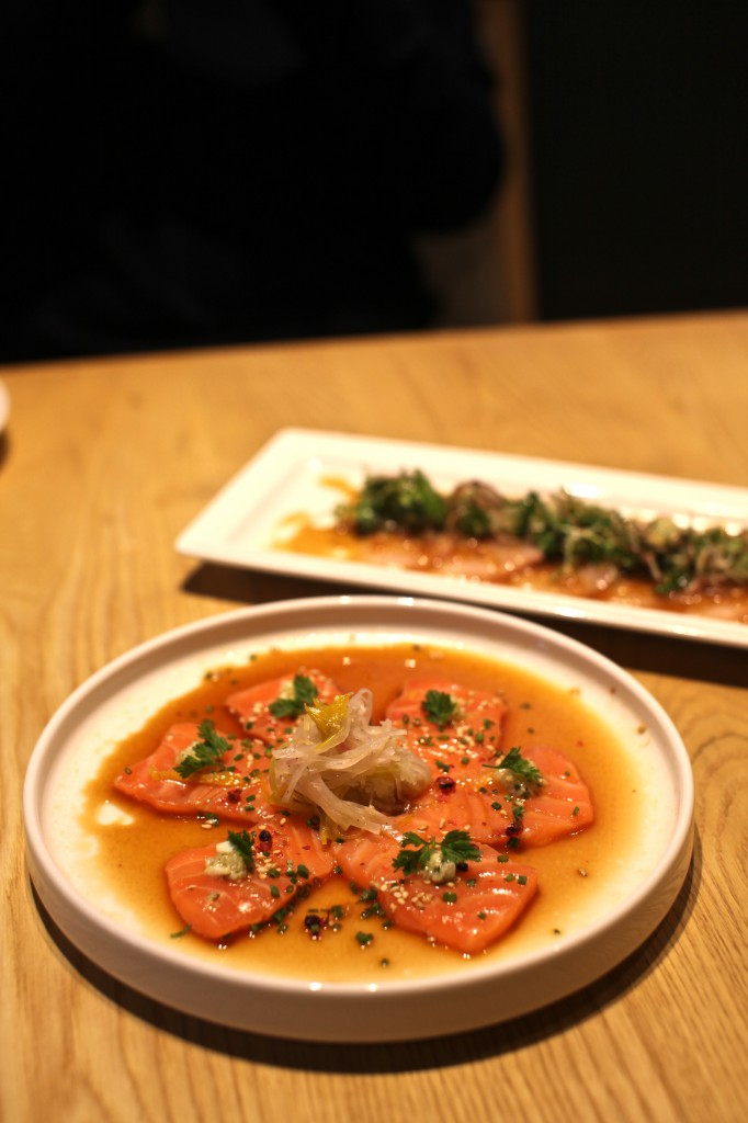 Kouzu - salmon with yuzu soy dressing