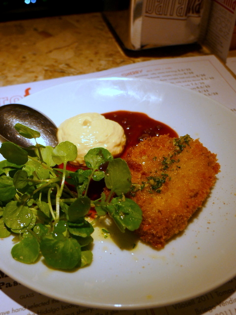Barrafina Frith Street - Ox tongue with horseradish alioli