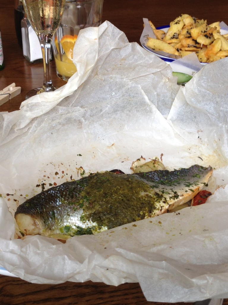 The Fish & Chips Shop - London Food Blog - Bass in paper