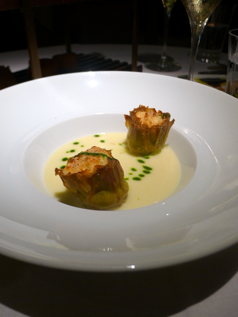 London Food Blog - Quattro Passi - Artichokes with lobster