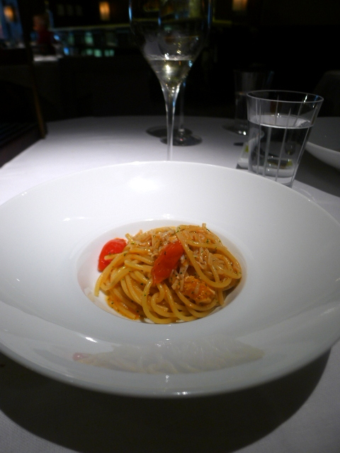 London Food Blog - Quattro Passi - Spaghetti with crab