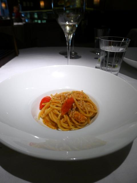 London Food Blog - Quattro Passi - Spaghetti with crab