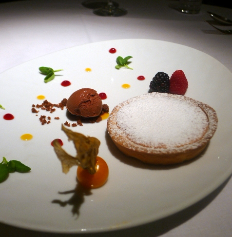 London Food Blog - Quattro Passi - Warm orange tart