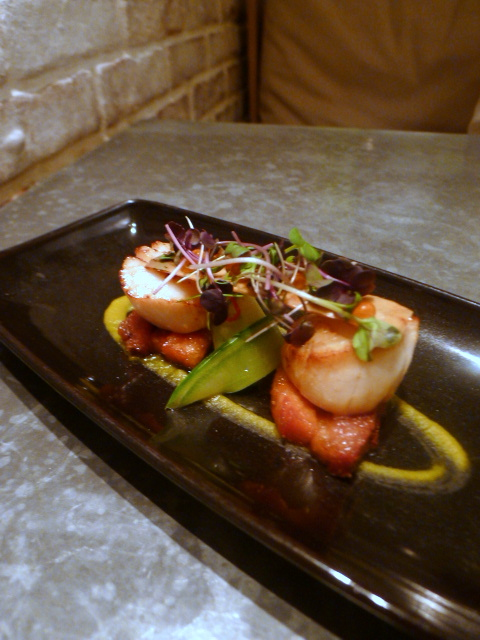 London Food Blog – Australasia - Hand dived scallops with pork belly
