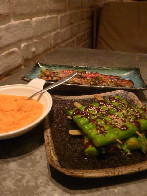 London Food Blog – Australasia - Asparagus, sweet potato & aubergine