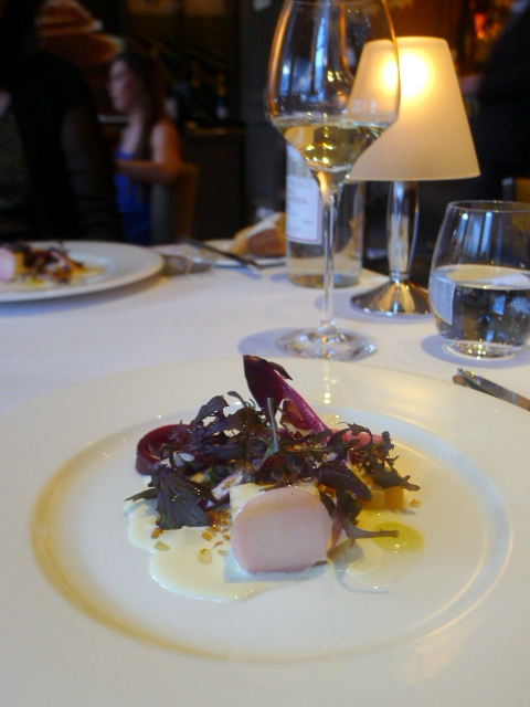 New Angel – London Food Blog – Celery with golden beetroot