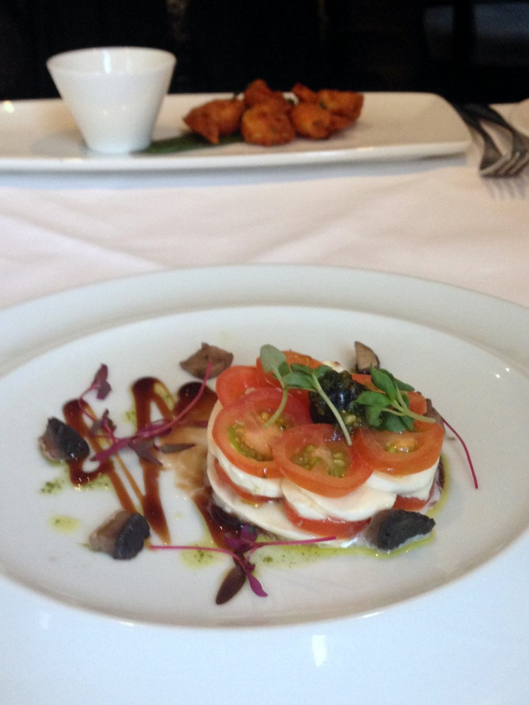 Bistro 51 at The St James Court Hotel – London Food Blog - Boccocini and cherry tomato tian