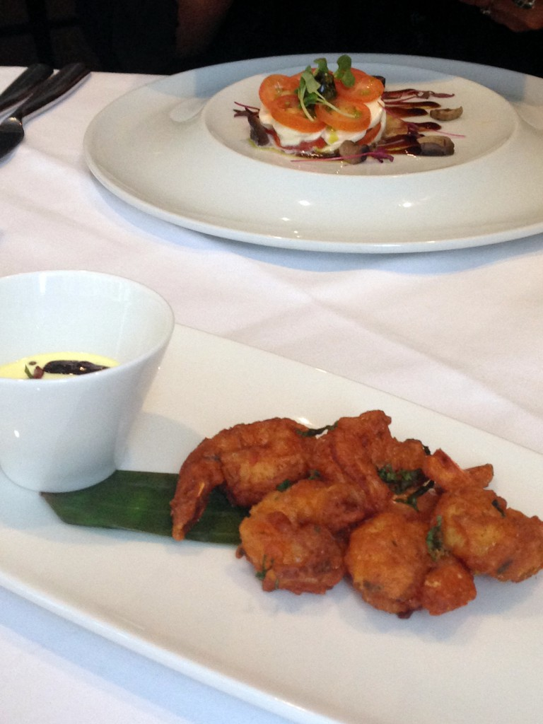 Bistro 51 at The St James Court Hotel – London Food Blog - Masala fried prawns with mango dip