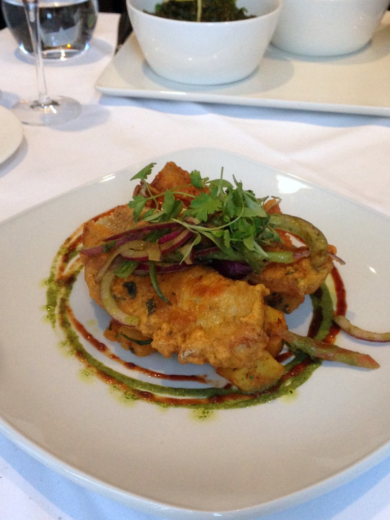 Bistro 51 at The St James Court Hotel – London Food Blog -Curry leaves crusted fish