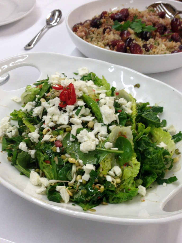Nutrition in Practice at Leiths - London Food Blog - Healthy green salad!