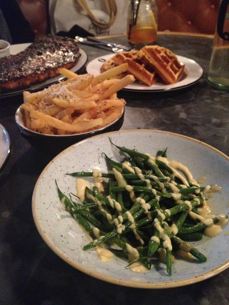 Q Grill - London Food Blog - Parmesan Truffle Fries & Green Beans with Smoke Aioli