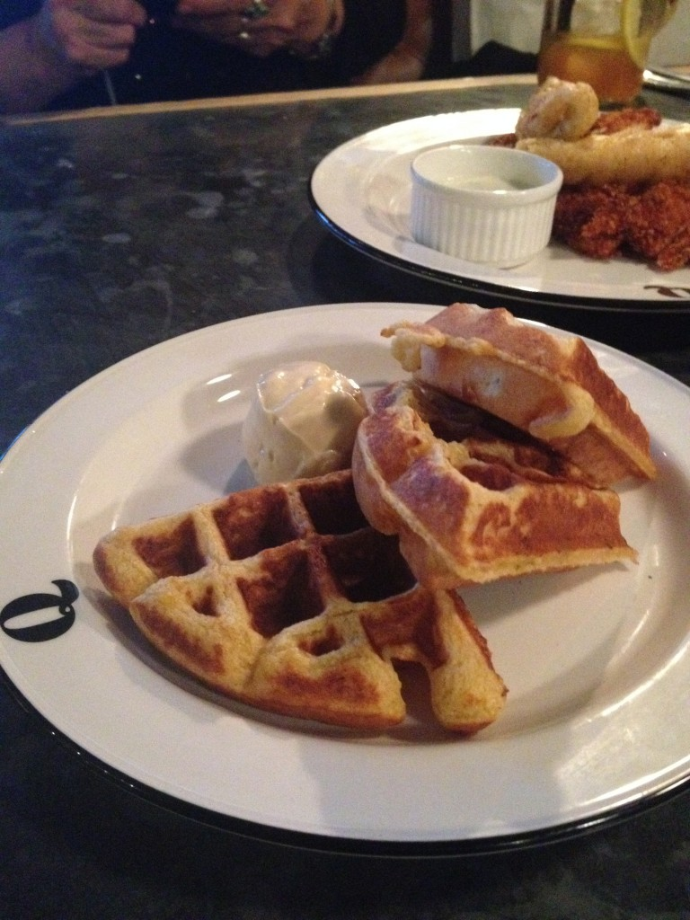 Q Grill - London Food Blog - Spiced Cornbread Waffle Maple Whip Butter