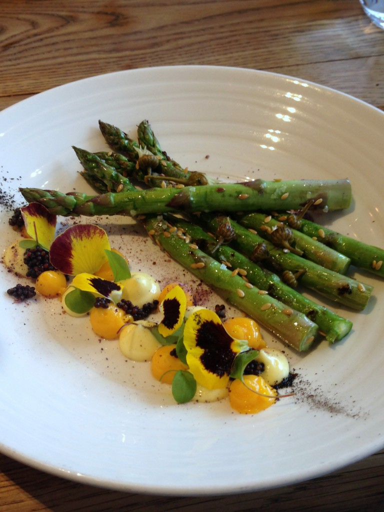 Rabbit - London Food Blog - Asparagus with confit egg