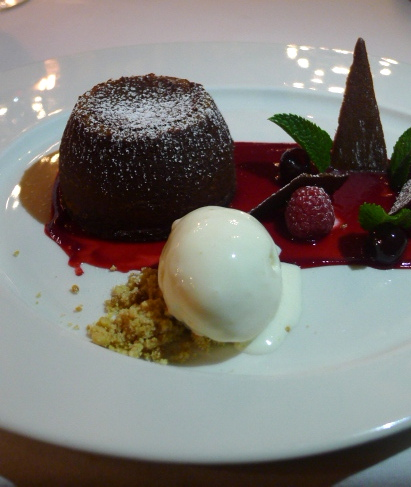 The Swan at Lavenham - London Food Blog - Chocolate fondant