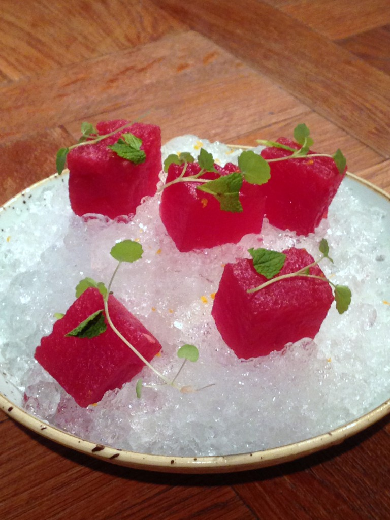 Iberica - London Food Blog - Watermelon with sangria