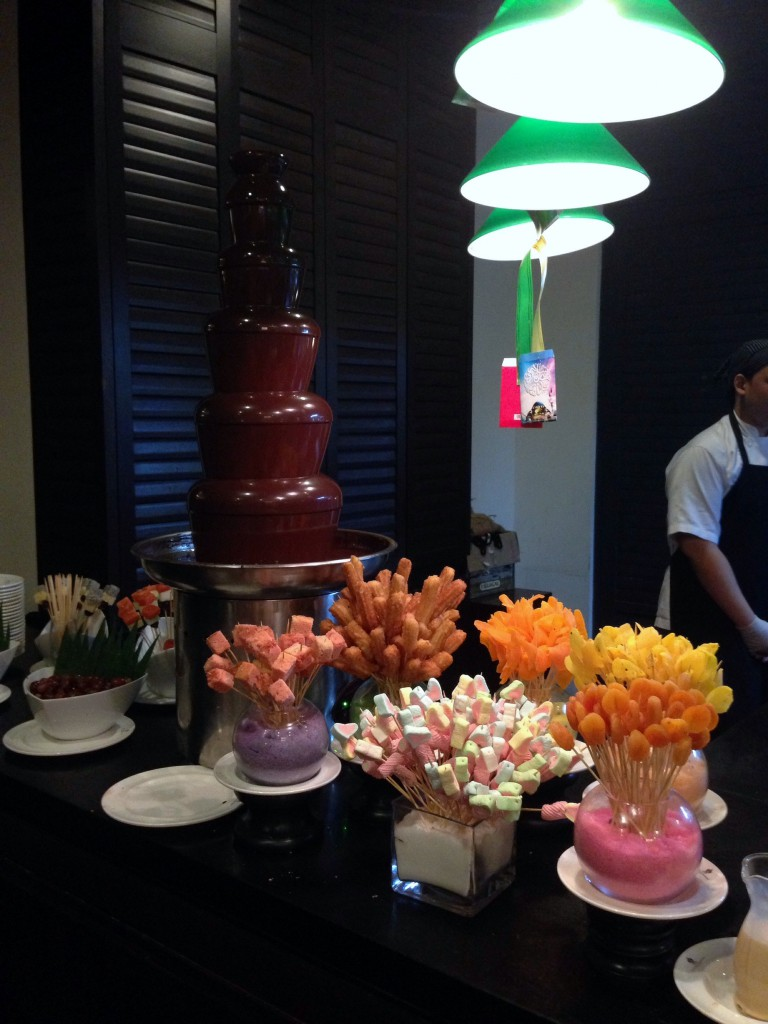Eastern & Oriental Hotel - London Food Blog - Chocolate fountain at the buffet