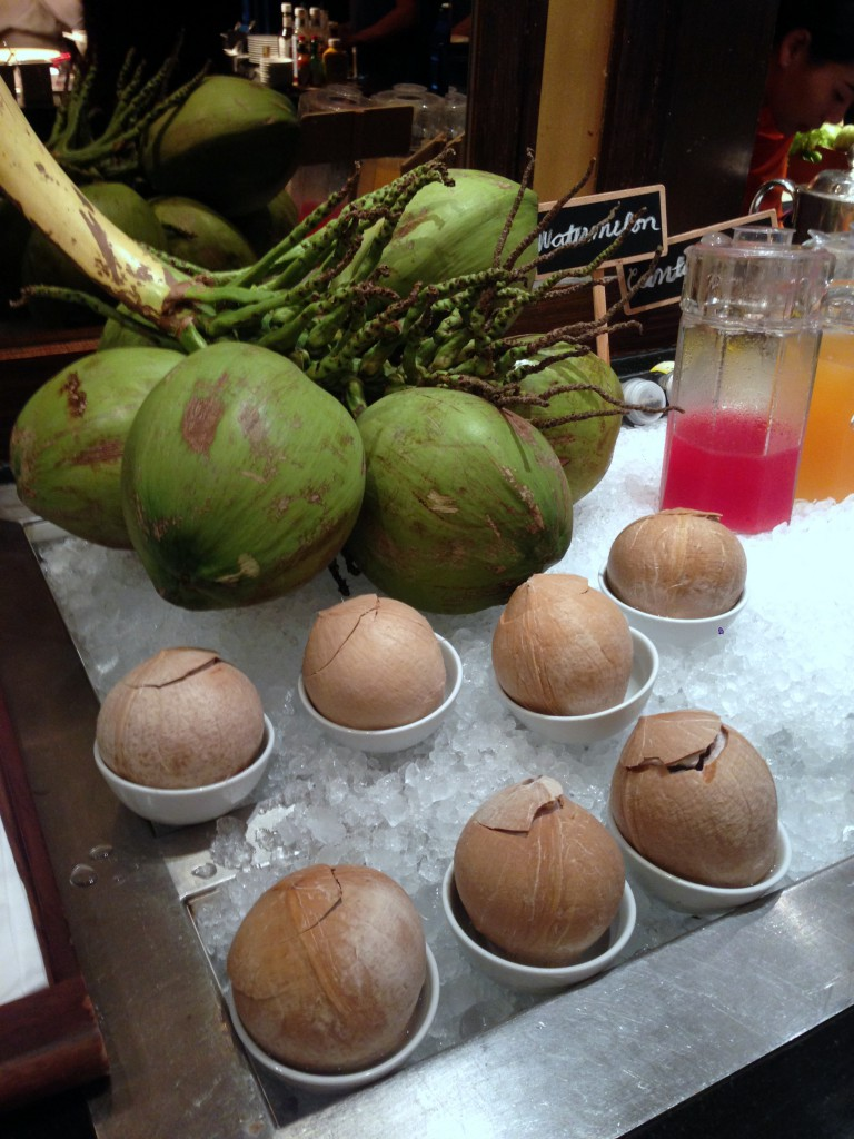 JW Marriott Bangkok - London Food Blog - Baby coconut juice