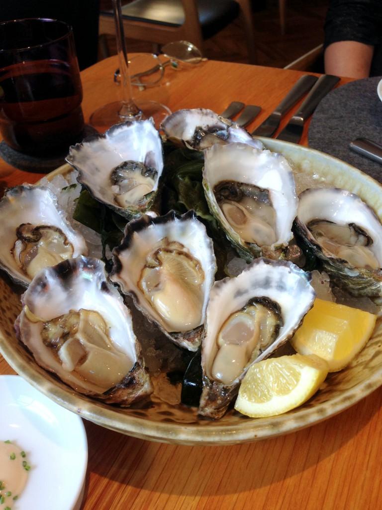 The Bridge Room - London Food Blog - Oysters