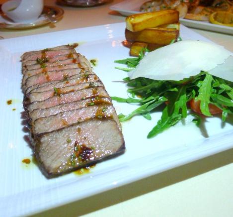 Mezzaluna Emirates Palace - London Food Blog - Beef tagliata