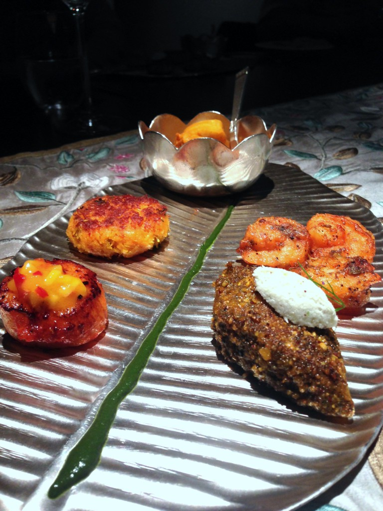 St James Court Hotel - London Food Blog - Tasting plate at Quilon