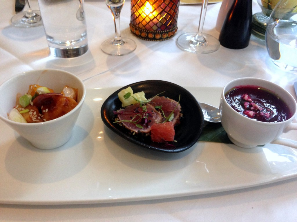 St James Court Hotel - London Food Blog - Starters at Bistro