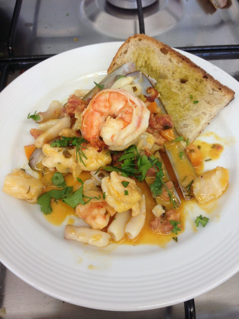 Muscadet Magic - London Food Blog - Our seafood stew