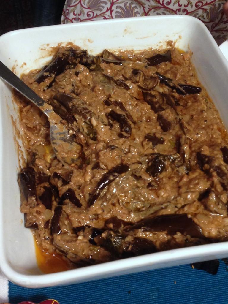 Tilda Curry Supper Club - London Food Blog - Baby aubergine