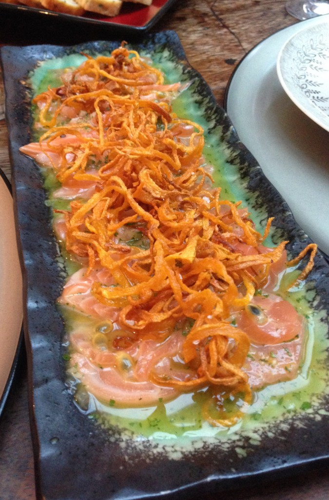 Salmon and Passion Fruit Tiradito - London Food Blog