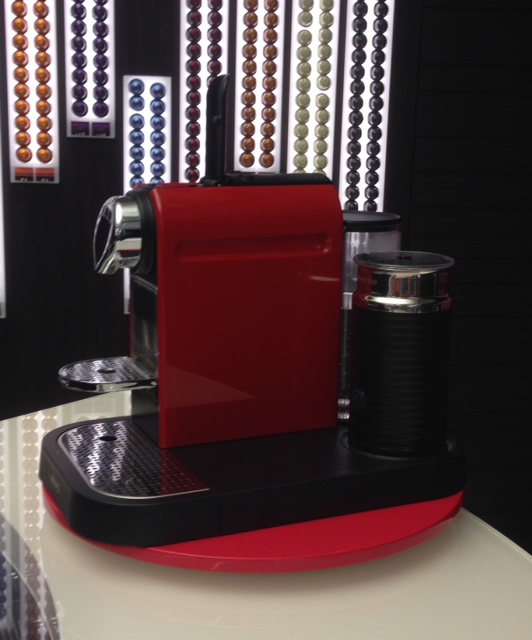 A Nespresso machine - Awesome colour!