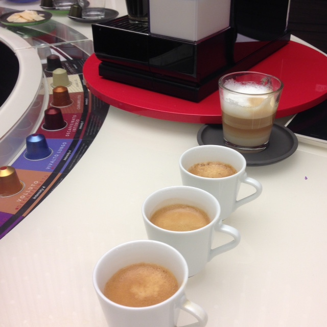 Nespresso Espresso tasters - London Food Blog