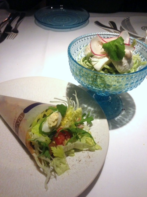 Rivea London - London Food Blog - Salad (l), mozarella (r)