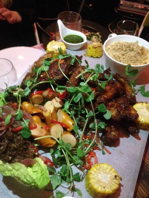 The Little Yellow Door - London Food Blog - Bourbon glazed ribs, pulled beef shin, buffalo wings, smoked sausage, burnt ends