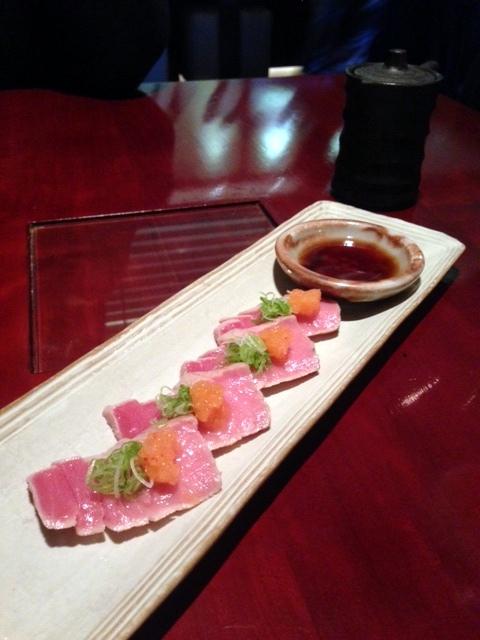 Tsukiji Sushi - London Food Blog - Chu-toro tataki